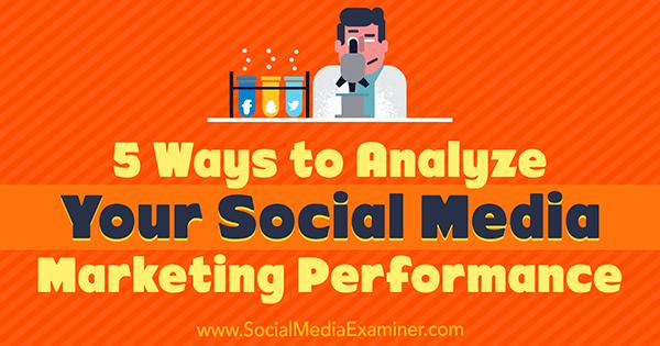 5 Möglichkeiten zur Analyse Ihrer Social Media-Marketingleistung von Deep Patel auf Social Media Examiner.