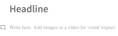 To add media to a LinkedIn Publisher post, click the square icon with the + sign.