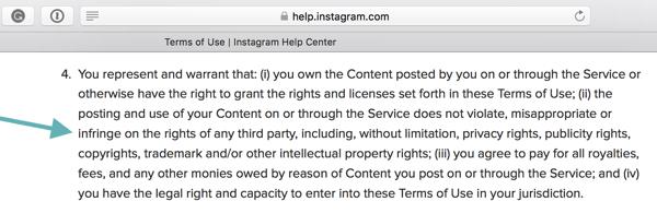 In den Nutzungsbedingungen von Instagram heißt es, dass Benutzer die Community-Richtlinien einhalten müssen.