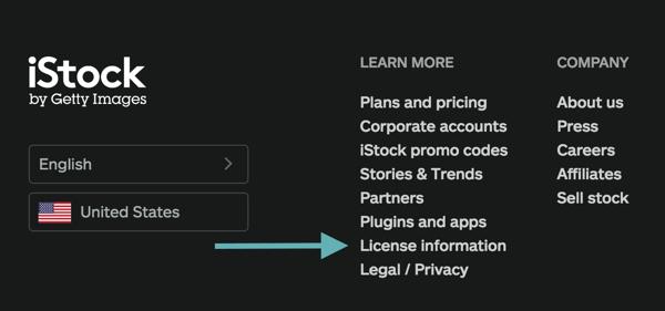 Suchen Sie in der Fußzeile des Stock Art Service nach einem Link mit Lizenzinformationen.