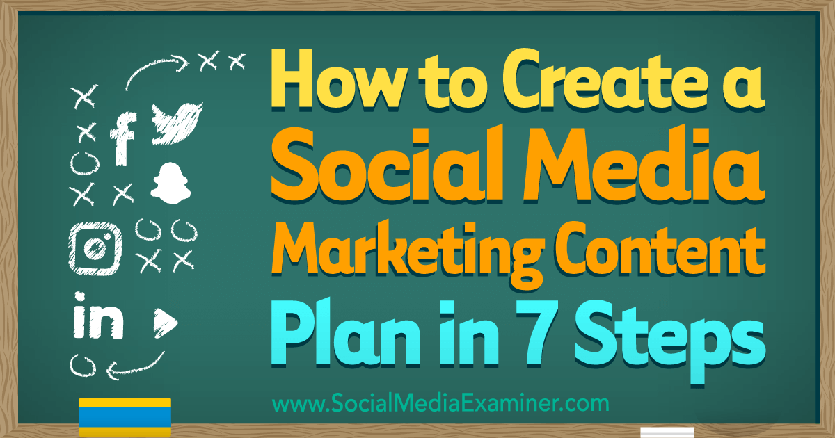 How To Create A Social Media Marketing Content Plan In 7
