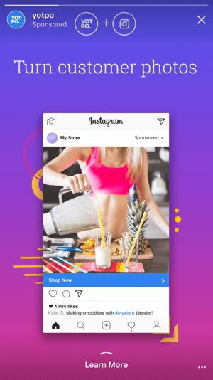 Mit den neuen Zielen für Instagram-Story-Anzeigen können Sie Nutzer zu Ihrer Website und Ihren Apps senden und so echte Conversions erzielen, anstatt nur auf Markenbekanntheit zu hoffen.