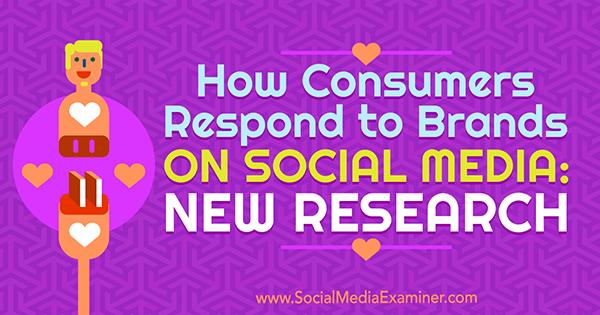 Wie Verbraucher auf Marken in sozialen Medien reagieren: Neue Forschungsergebnisse von Michelle Krasniak über Social Media Examiner.
