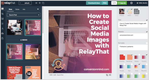 RelayThat choose graphic template
