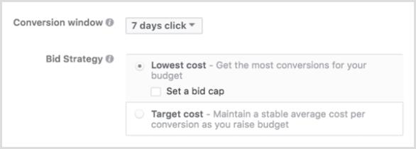 Facebook ads bid strategy