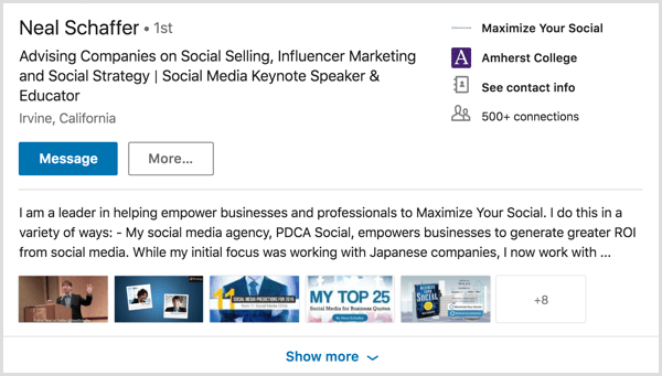 LinkedIn redesigned profile