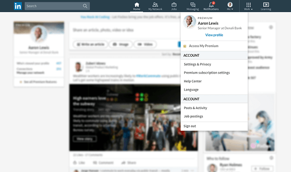 Linked is also rolling out a quick and easy shortcut for users to access all of the content they have shared, written, or recorded on the site with the new Me tab.