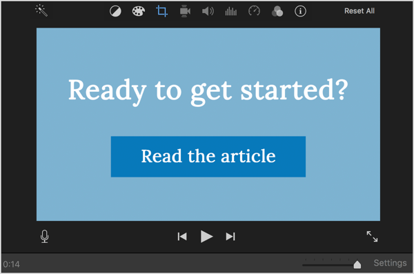 Use a call to action in your LinkedIn video ads.