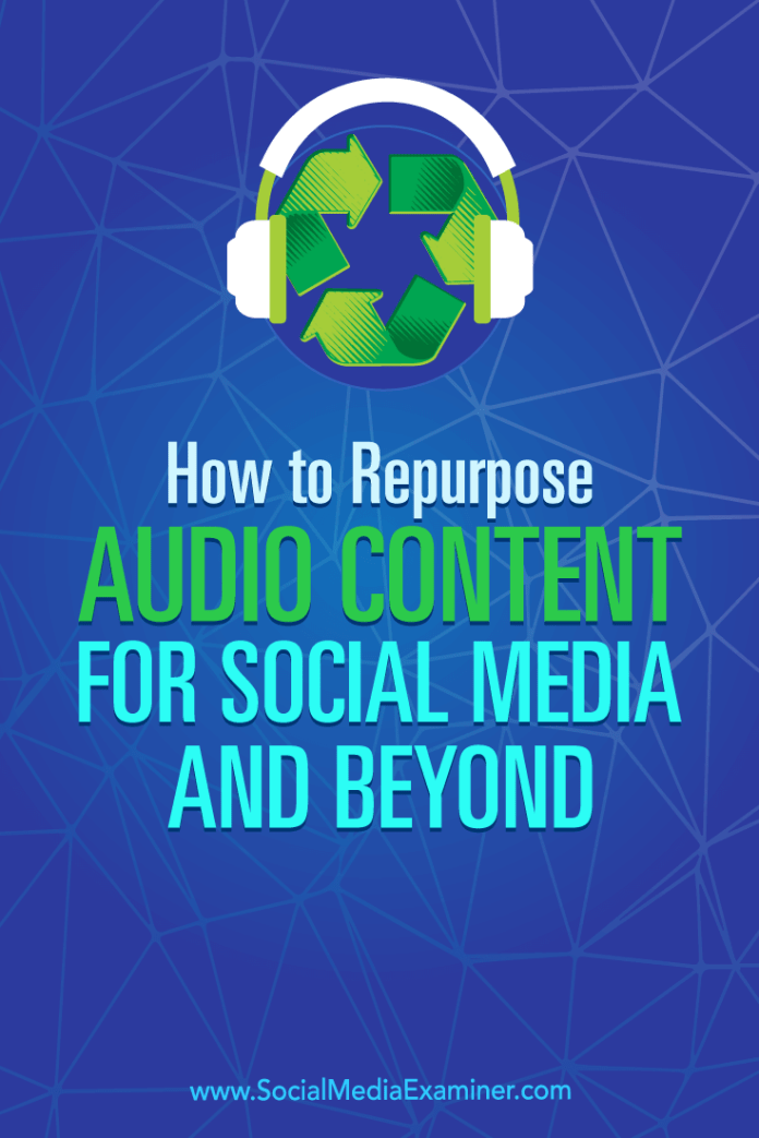 Discover how to repurpose the audio content from your Alexa flash briefing skill or podcast to reach a wider audience.