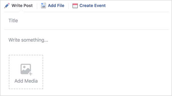 Once you've created a unit, you can write a post, upload a file, or create an event.