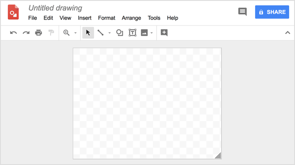 Create original, professional-looking graphics in Google Drawings for free.