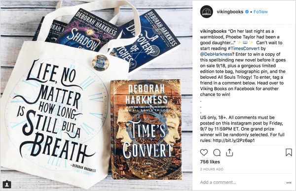 An Instagram giveaway campaign can be a resourceful way to drum up excitement and interest for a new product release.