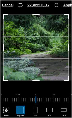 Crop your image in PicsArt.
