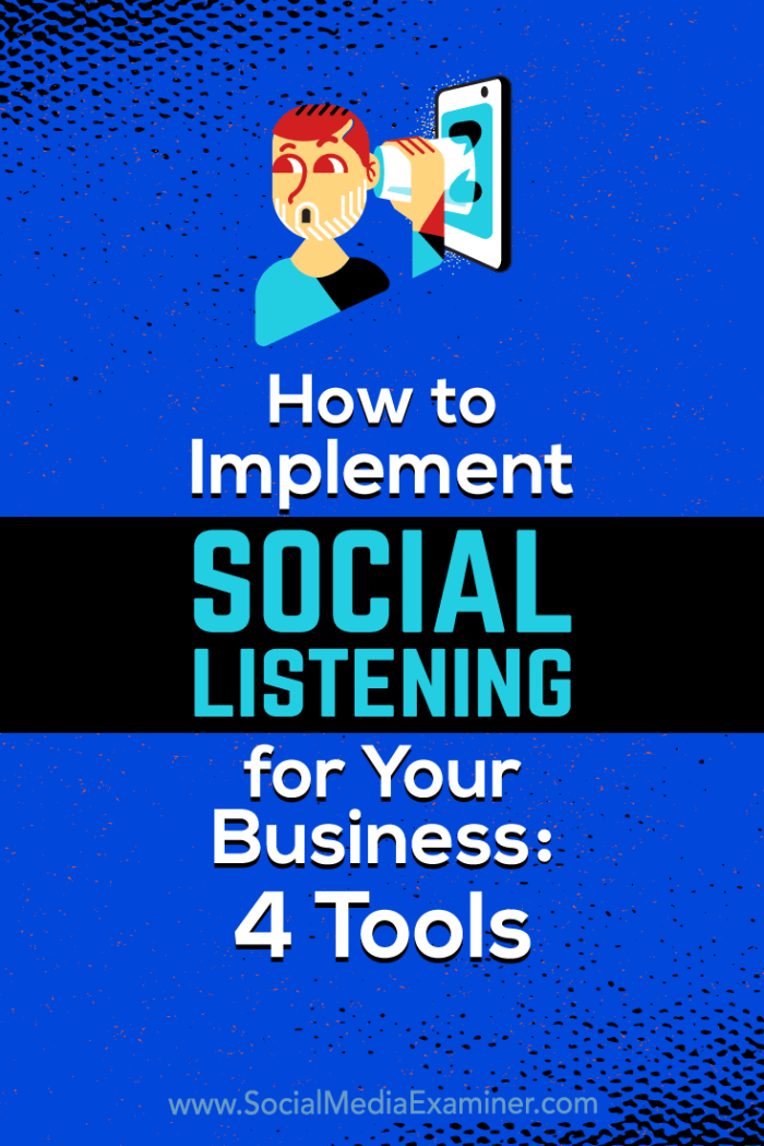 Discover four social listening tools that let you monitor and respond to mentions, and reveal strategic insights you can use to make smart marketing decisions.