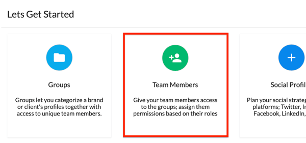 Get started by adding team members to your Statusbrew account.