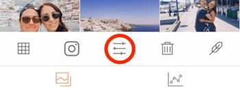 In UNUM, tap the edit button to adjust your image.