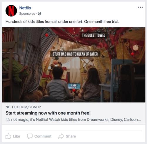 Gli annunci di Facebook devono fornire una buona esperienza utente.