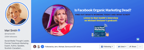 Una pagina aziendale di Facebook mostra ciò che vendi, una pagina di figura pubblica mostra chi sei