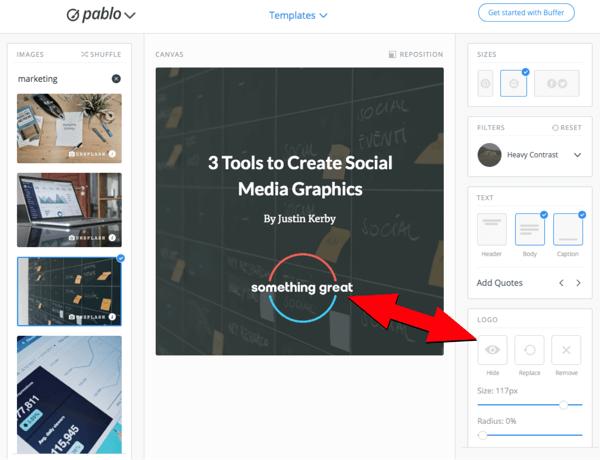 Verwenden Sie Pablo, um Bilder für soziale Medien zu erstellen, Schritt 6.