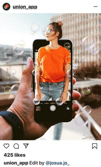 Verwenden Sie die Union App, um Bilder für soziale Medien zu erstellen, Schritt 1.