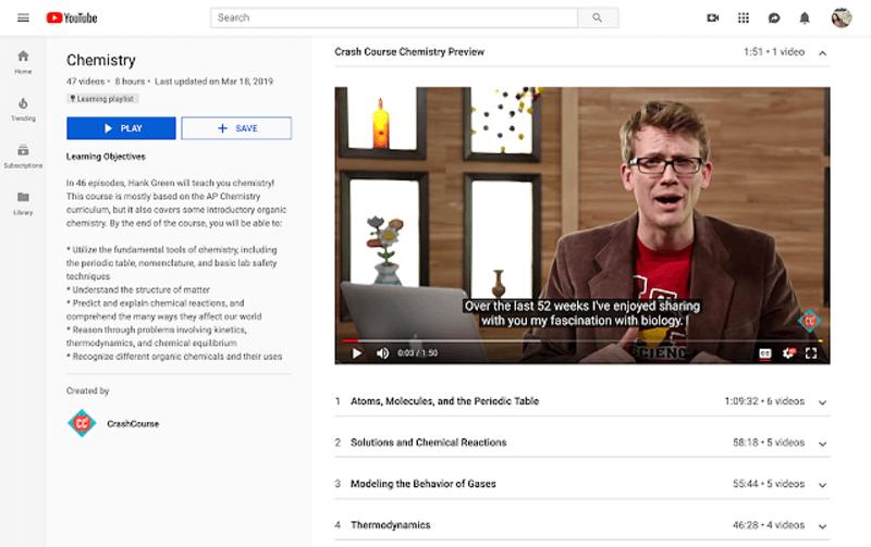 YouTube führt Lern-Playlists ein, um Menschen, die zu YouTube kommen, eine spezielle Lernumgebung zum Lernen zu bieten.