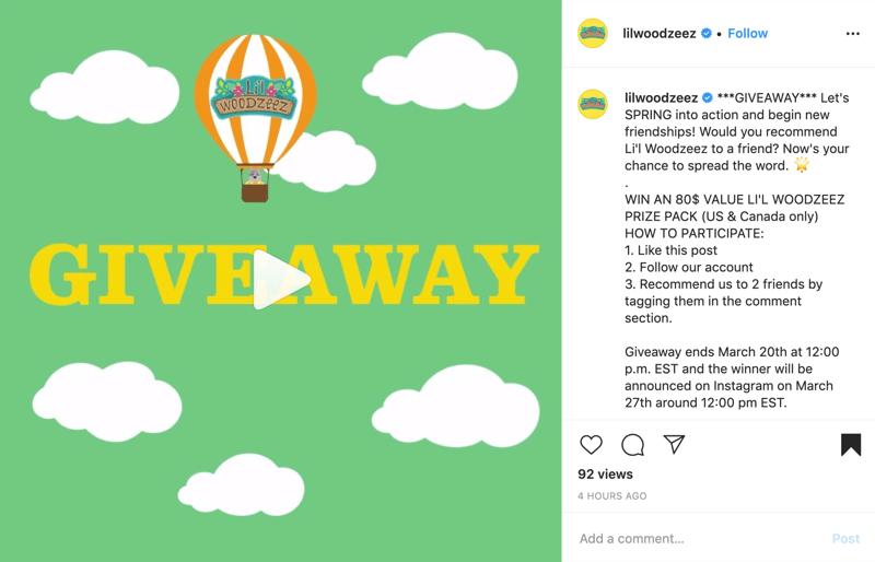 Beispiel für einen Instagram-Werbebeitrag