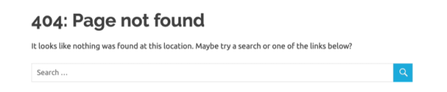 example google analytics 404 error page customized to the 404 error result