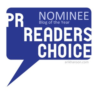 PR Reader's Choice Blog Awards