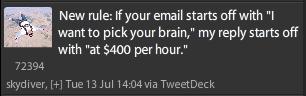 Peter Shankman's $400 lunch tweet