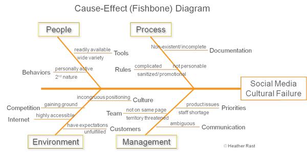 Social Media Fishbone Diagram - Heather Rast