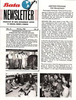 English: Bata Shoe Company News Letter: 18th M...