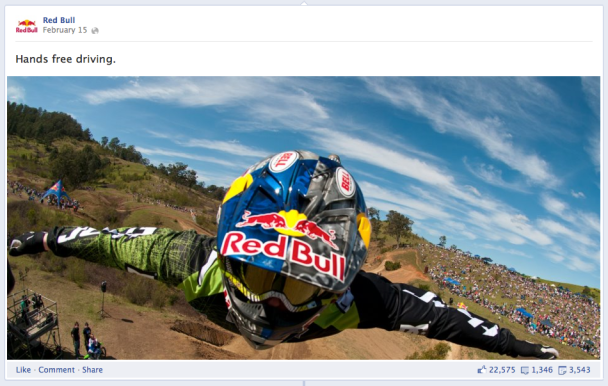 Photo Shared by Red Bull on Facbook