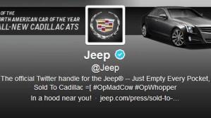 Jeep Twitter Hijacked