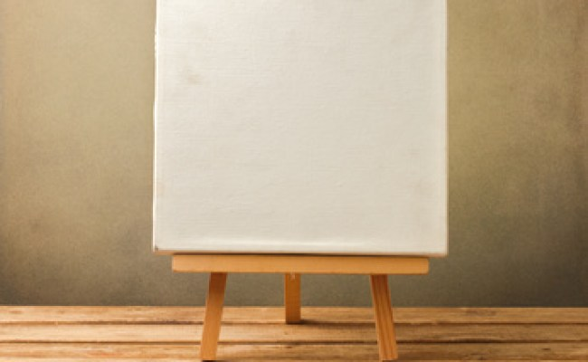 Background With Blank Canvas On Wooden Table Social