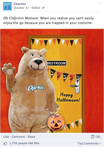 Charmin's Halloween Facebook Post