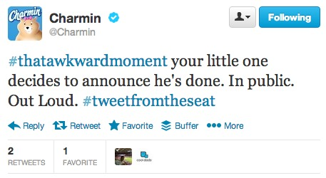 Charmin awesome tweet