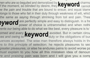 Excessive and obvious keyword usage won't result in good content.
