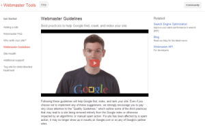 Google's Webmaster Guidelines give a good idea of the type of content they approve of.
