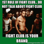 Content strategy, Fight Club style