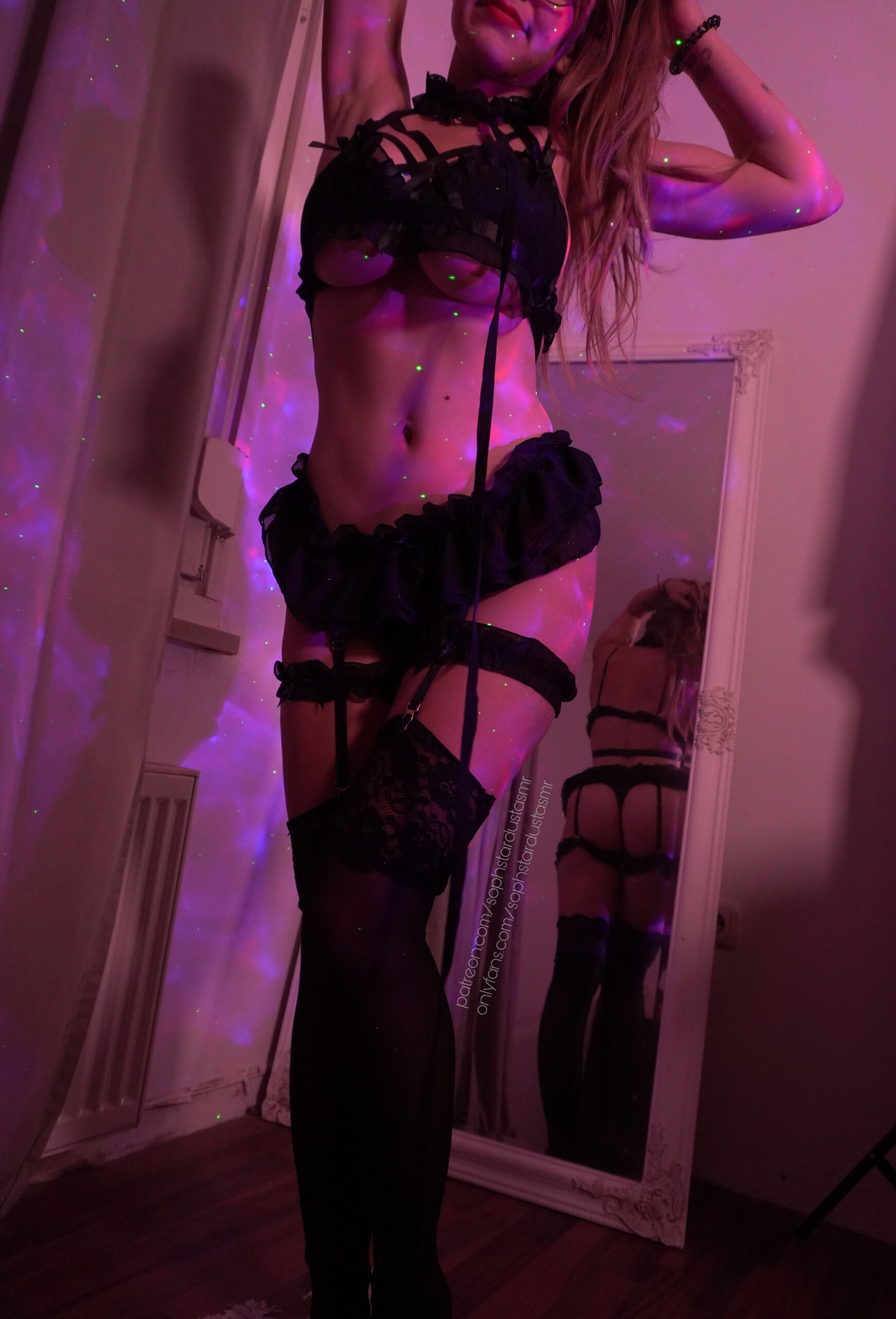 Soph Stardust ASMR Kitty Black Lingerie