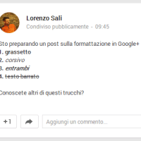 Grassetto, corsivo, barrato: ecco come formattare in Google+