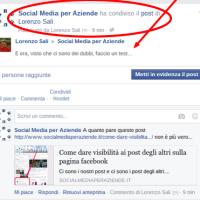 Dare visibilità ai post degli altri sulla pagina aziendale di Facebook - #barbatrucco