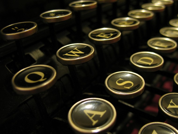 Traditional typewriter keys