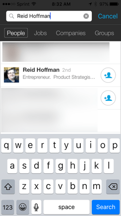 Reid Hoffman Profile Search LinkedIn Mobile App