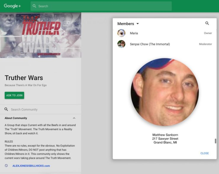 truther-wars-maria-senpai-chow-matthew-sanborn-owner-moderator-members