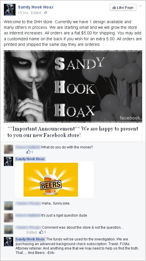Erik Nikolas Pearson hoaxer-chandler-arizona-az-yakima-washington-wa-sandy-hook-hoax-hoaxers-joker-shh-store-facebook-beers