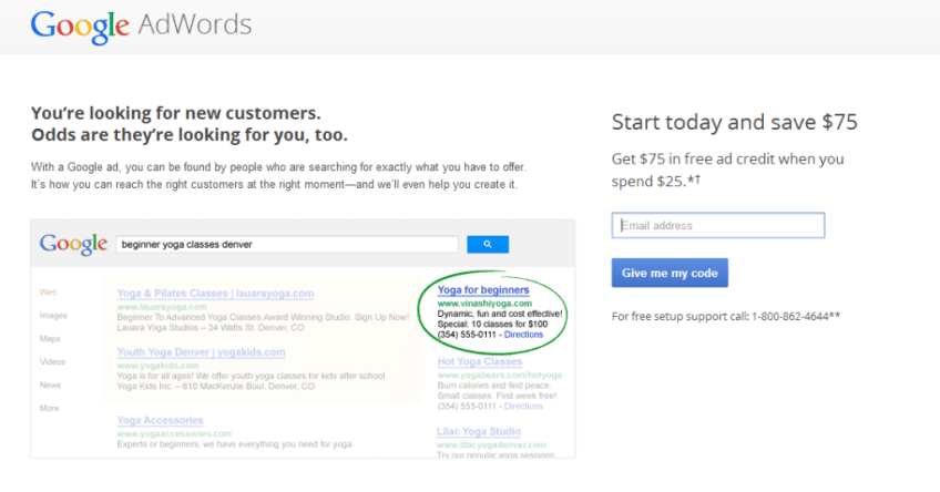 adwords coupons