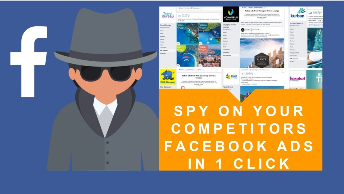 spy competitors ads faceboook 1 click
