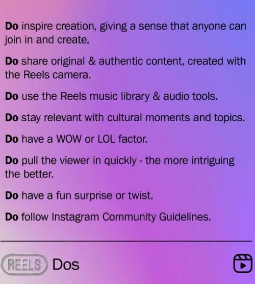 Instagram Reels tips