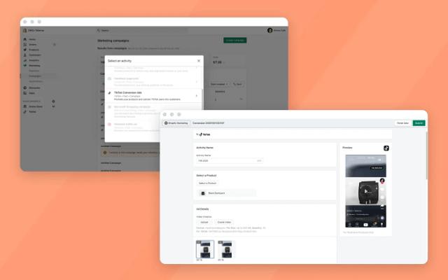 TikTok ad creation on Shopify